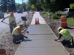 Concrete Sidewalk Contractor Work New York, NY - Empire GEN Construction USA Inc.